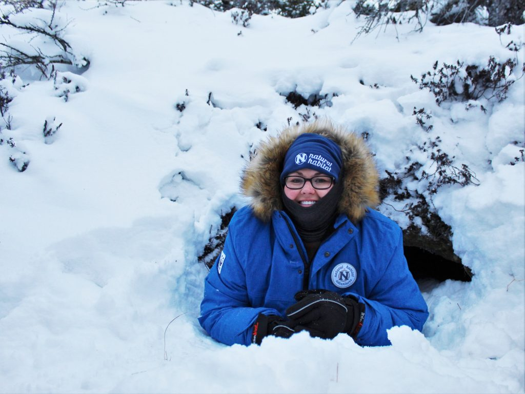 I crawled into an abandoned polar bear den!