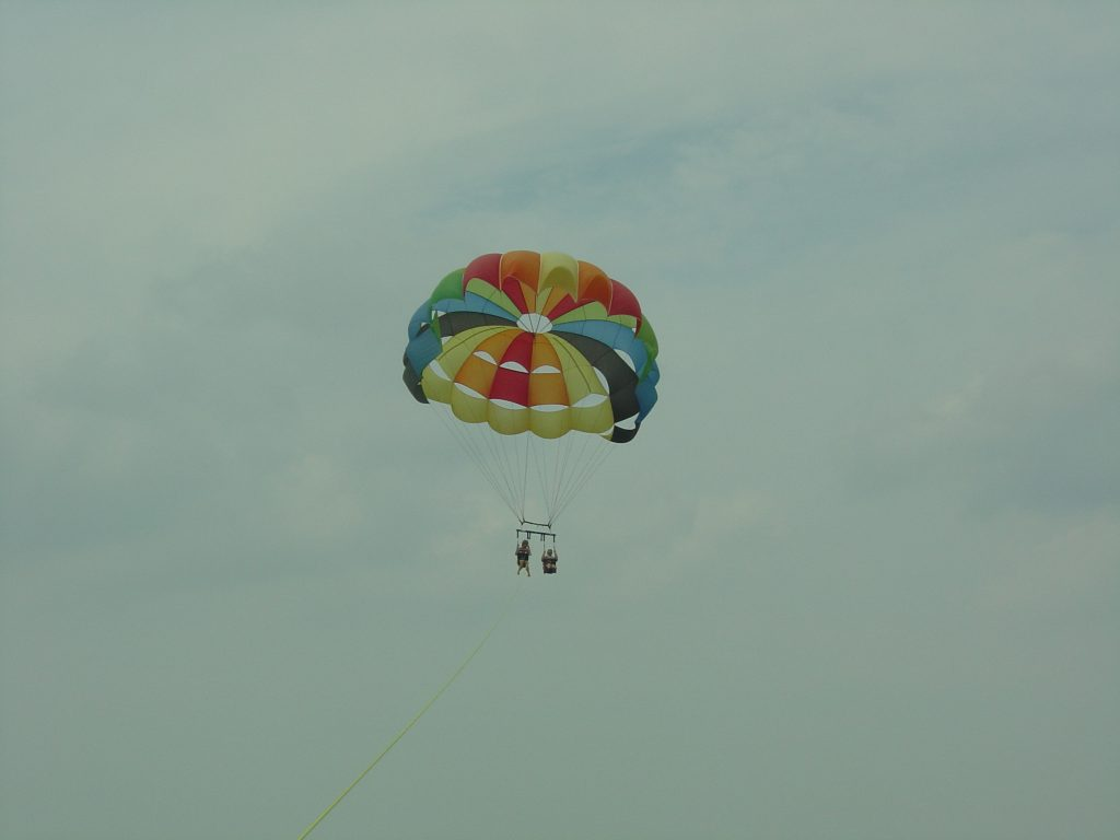 You can be socially distant while parasailing!