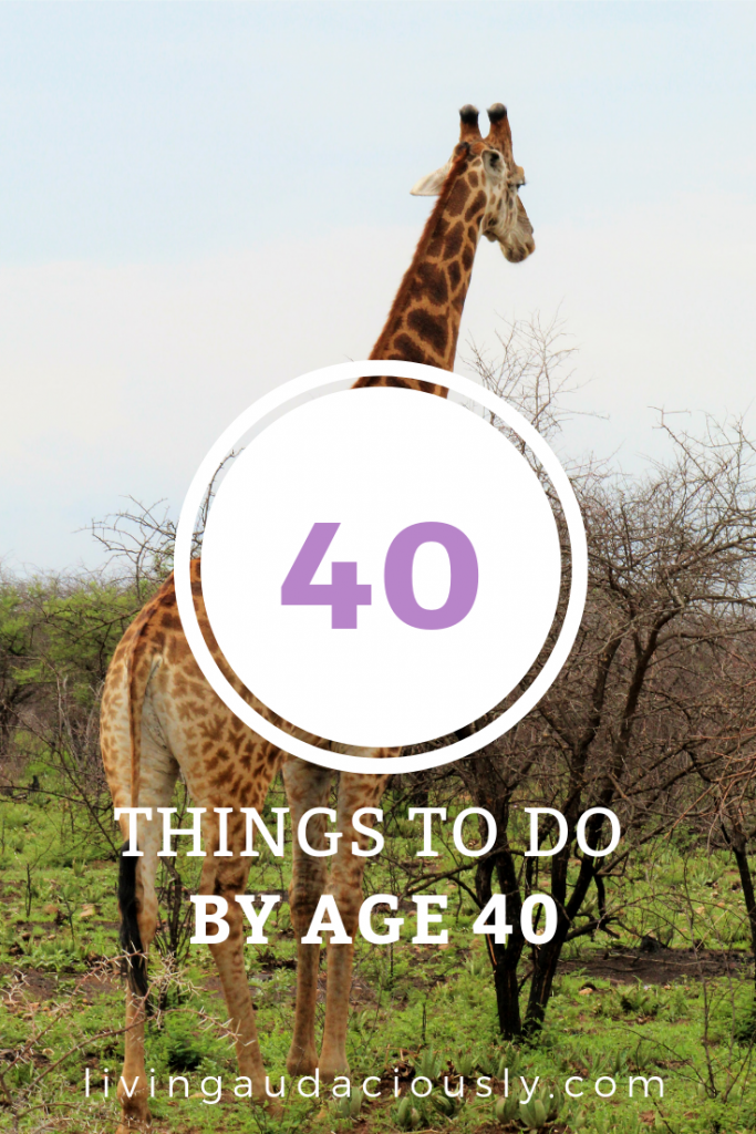 40 Things to do Before Turning 40