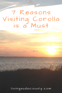 Why should you visit Corolla in OBX? Let me tell you! From the beach to shopping, great restaurants and plenty of other things to do, you won't regret traveling to North Carolina for this vacation! #OBX #beach #beachvacation #northcarolina