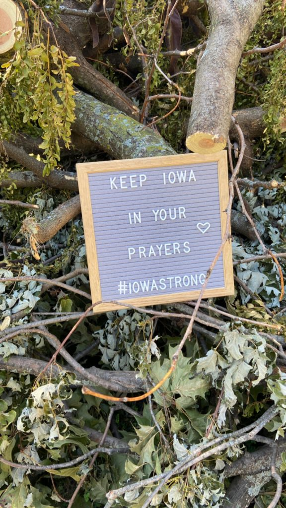 Keep Iowa in your prayers as we recover from this derecho.