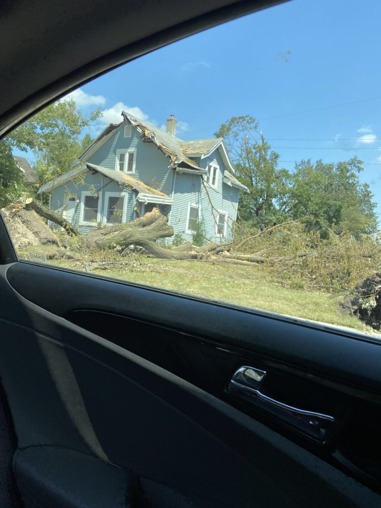 Nearly every home in the area has some sort of damage.