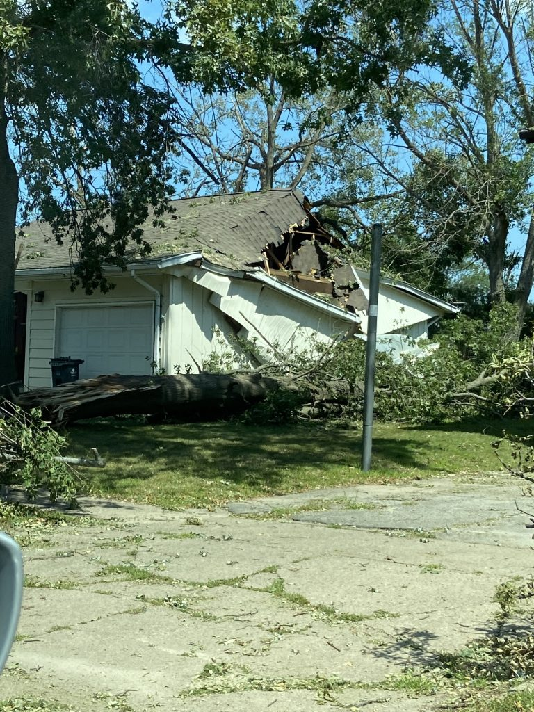 Another house destroyed during the derecho.