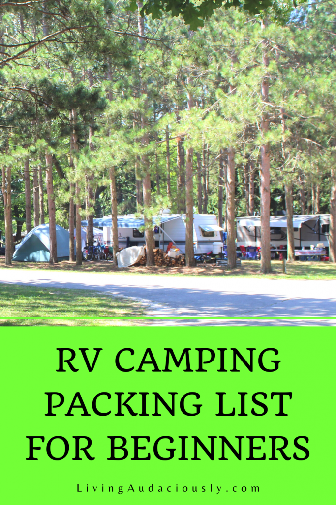 When you're thinking about going camping, checkout this packing list of essentials you're not going to want to forget.  #rvcamping #campingpacking #campingessentials