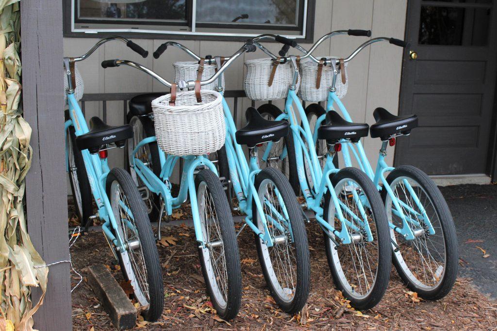 Borrow bikes from the lodge