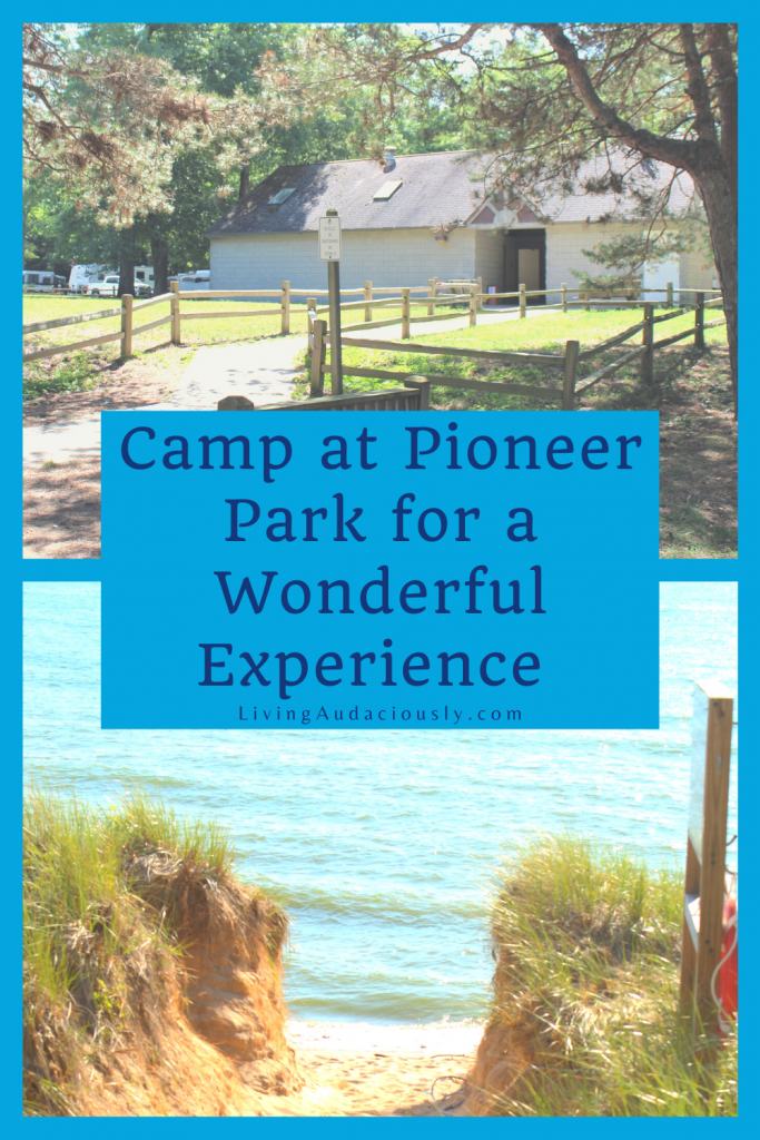 Pioneer Park Campground offers some of the best campsites in Michigan. With beach access, beautiful trails, and full hookups for rv camping, your camping trips will a great addition to your family travel plans!  #rvpark #campingtrips #michigan #campgrounds