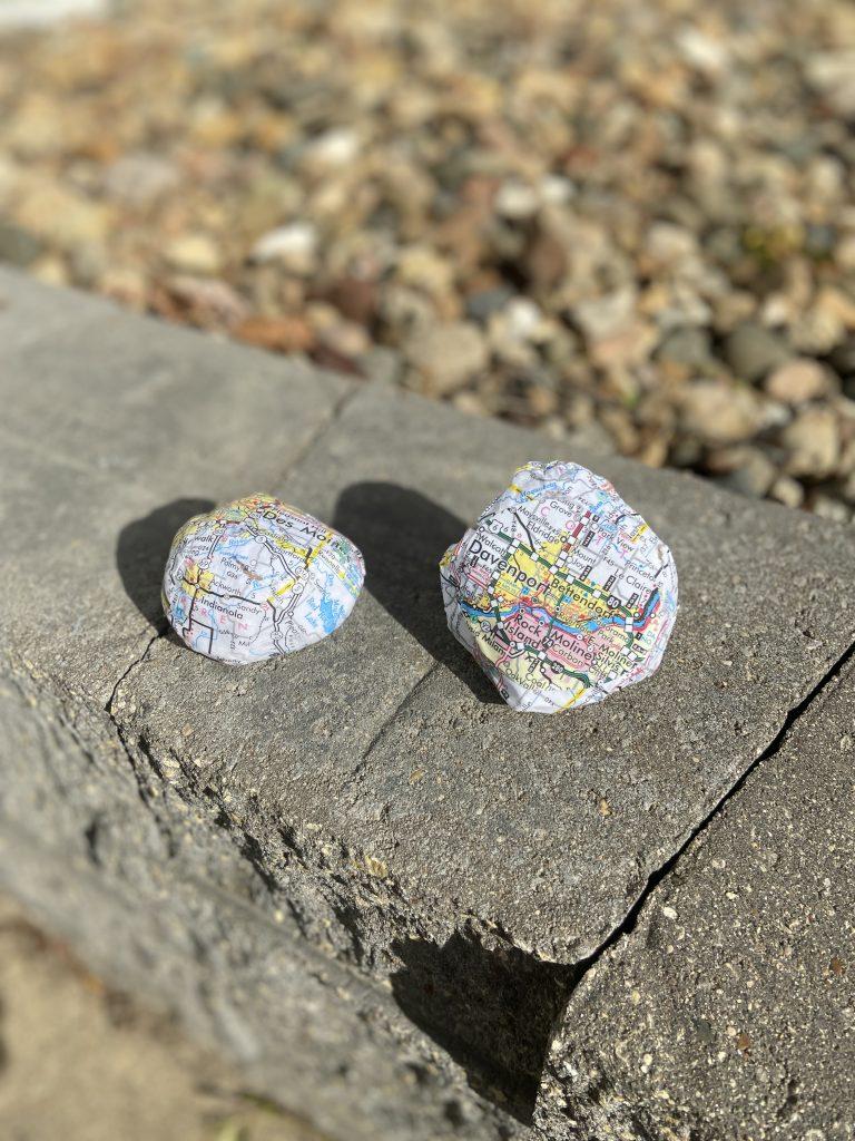 Travel Crafts: Map Rocks
