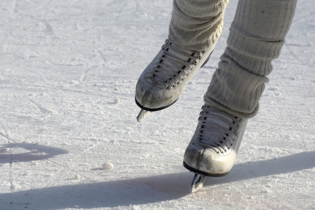 There are 3 outdoor ice rinks around the area you can use.
