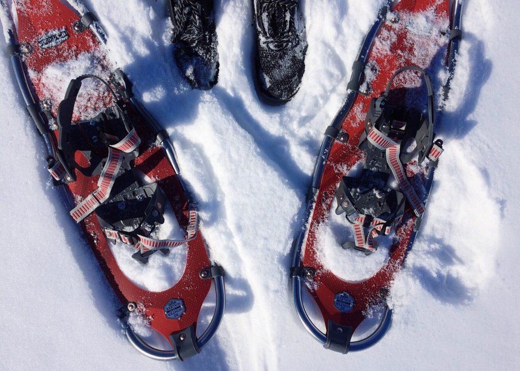 Try snowshoeing in Cedar Rapids