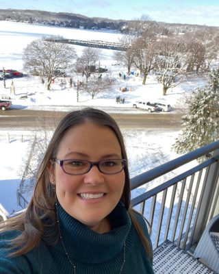 It was totally awesome to be able to see some of the snow sculptures from our room! ❄️ We were able to check up on them whenever we were upstairs.  Plus, that's the lake in the background, we had an awesome view!