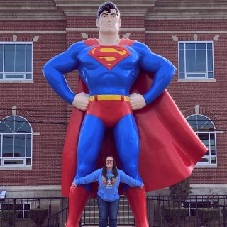 No biggie....just hanging out with Superman!